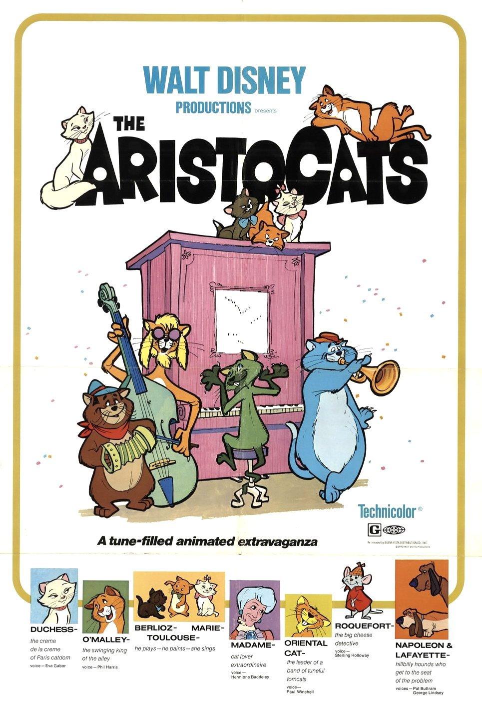 Πόστερ της ταινίας «Οι Αριστόγατες (1970) | The AristoCats»